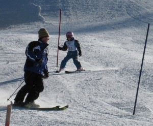 Mountain lessons for ski training